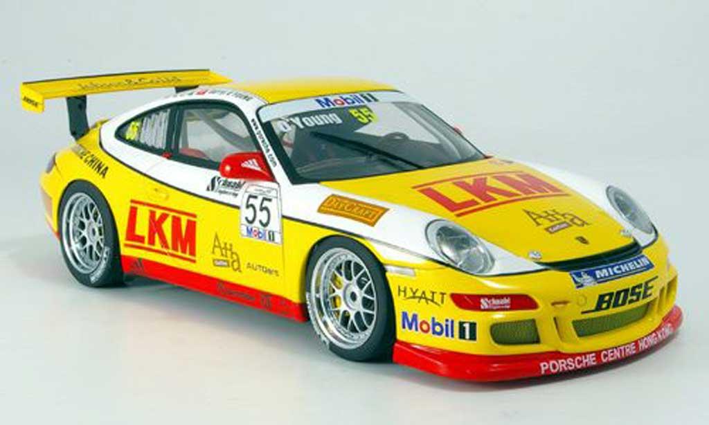 Porsche 997 GT3 CUP 1/18 Autoart GT3 Cup 2007 no.55 d.o`young miniature