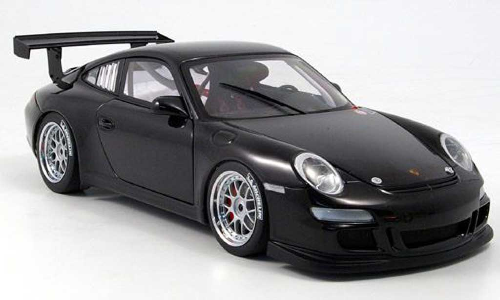 Porsche 997 GT3 CUP 1/18 Autoart GT3 Cup noire plain body version miniature