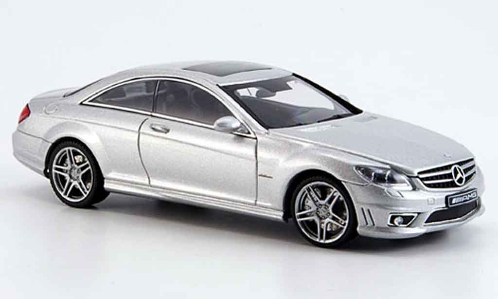 Mercedes Classe CL 1/43 Autoart CL63 AMG grise metallisee miniature