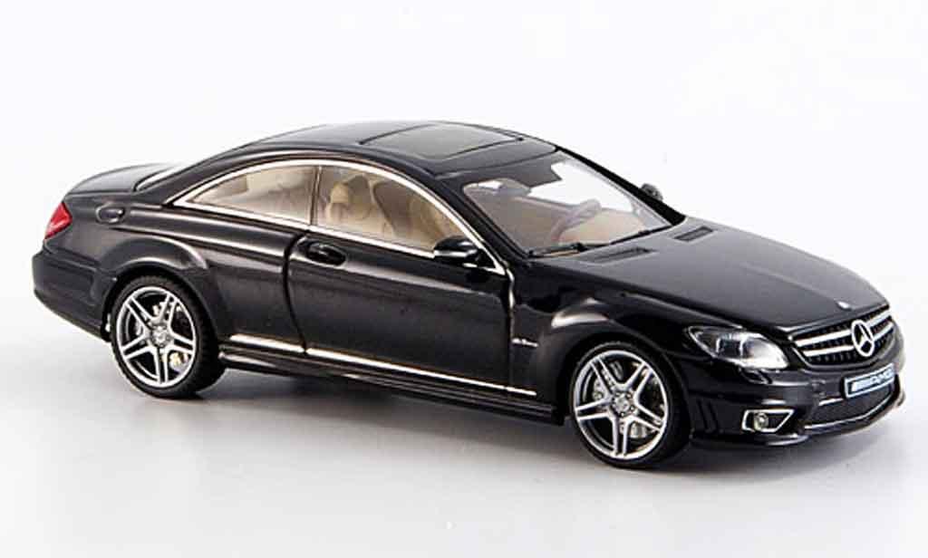 Mercedes Classe CL 1/43 Autoart CL63 AMG noire miniature