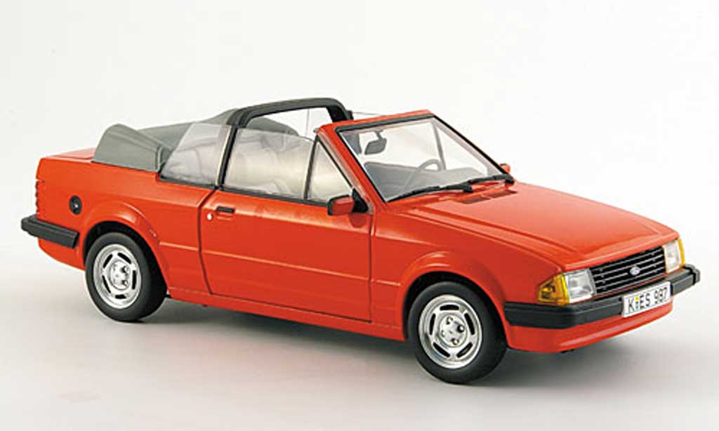 Ford Escort MK3 1/18 Sun Star gl cabriolet rouge 1984 miniature