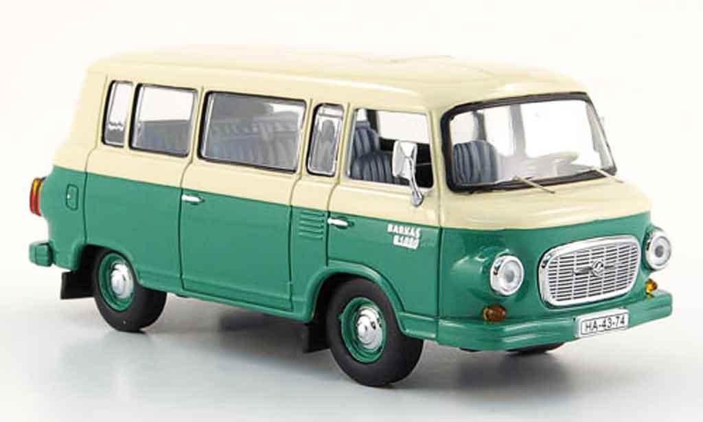 Barkas B 1000 1/43 IST Models Minibus verte beige 1965 miniature