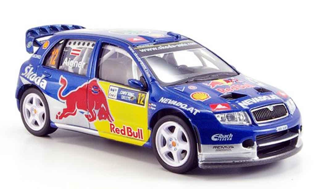 Skoda Fabia WRC 1/43 Abrex evo ii red bull i miniature