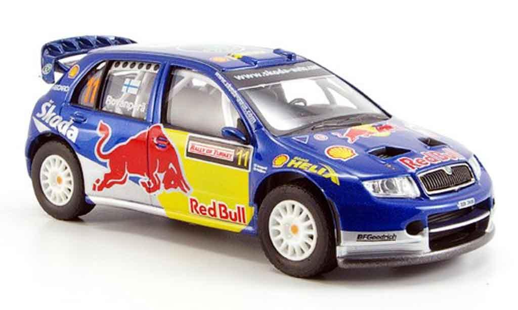 Skoda Fabia WRC 1/43 Abrex evo ii red bull ii miniature