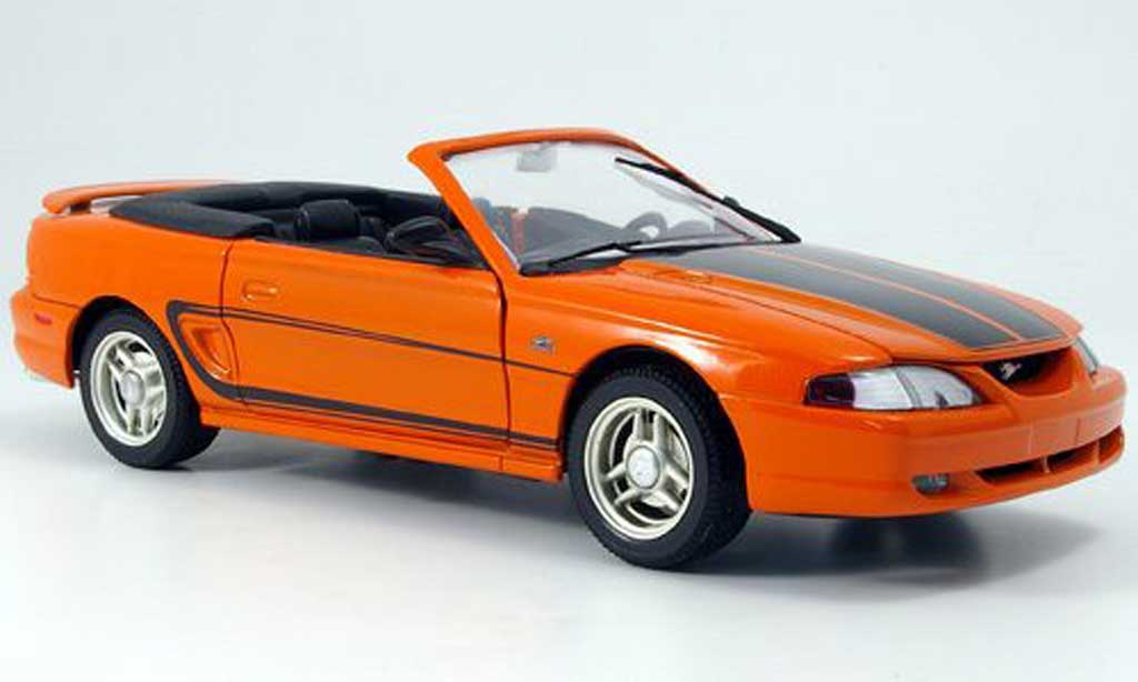 Ford Mustang 1994 1/18 Eagle cabriolet orange grise streifen miniature