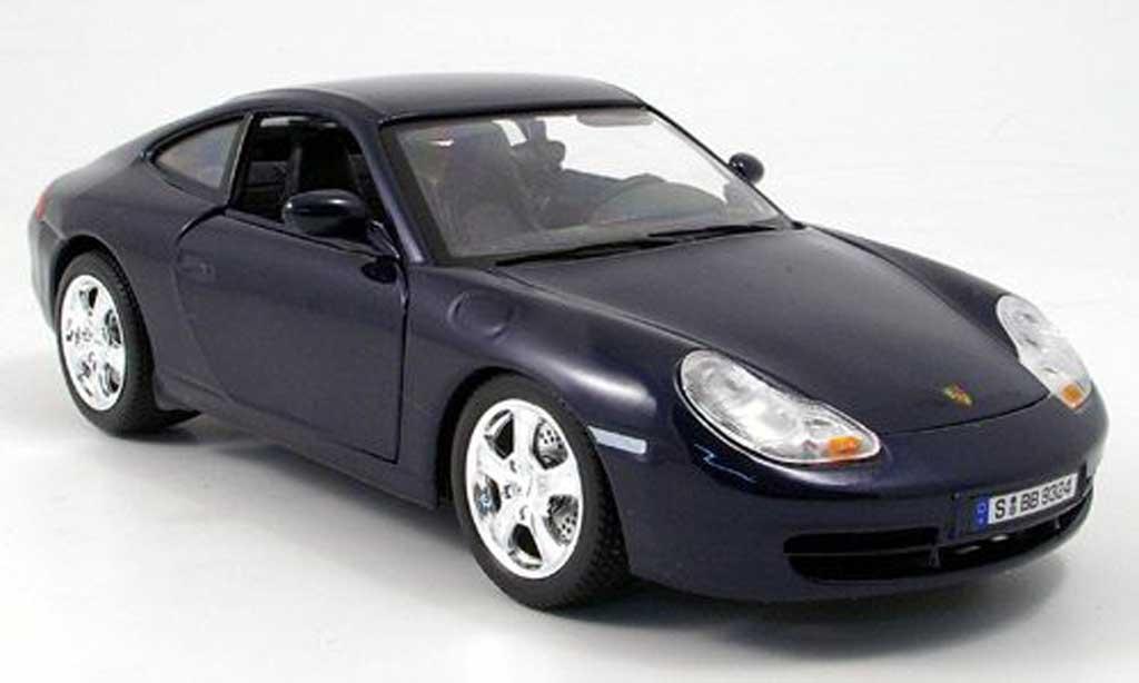 Porsche 996 Carrera 1/18 Burago 4 bleu diecast