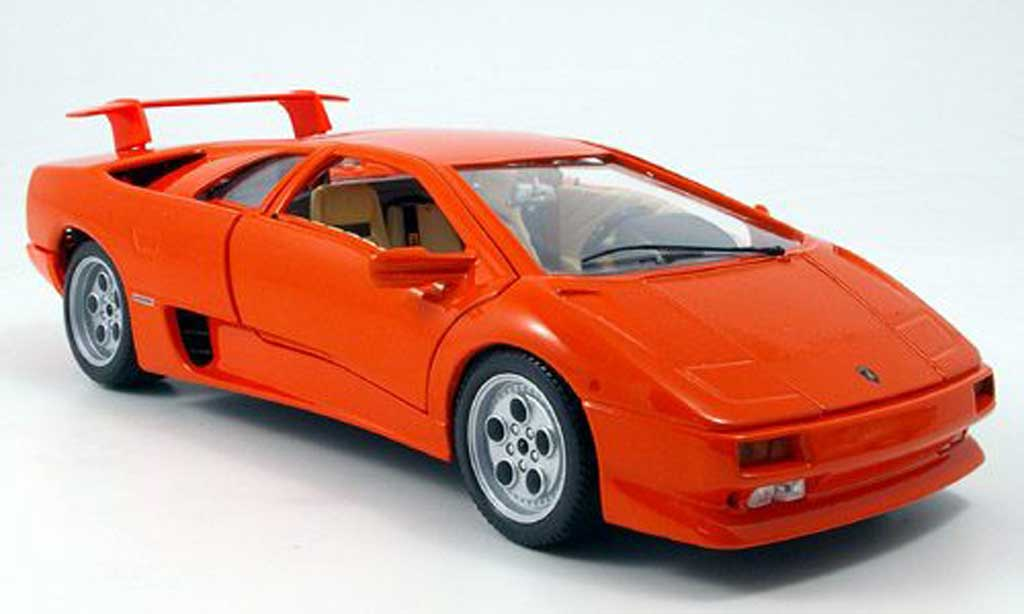Lamborghini Diablo 1990 1/18 Burago orange miniature