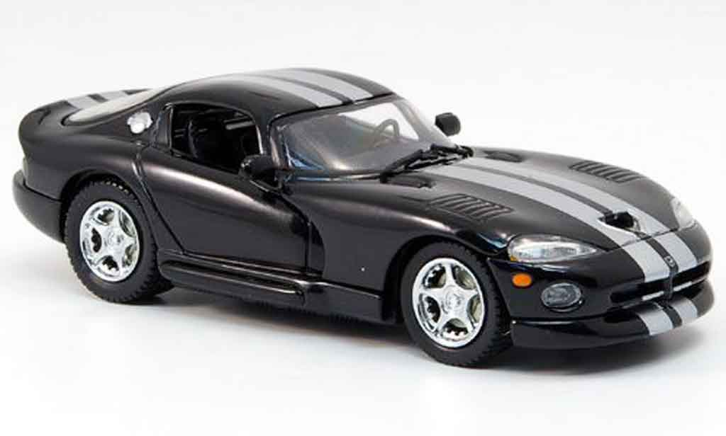Dodge Viper GTS 1/43 Eagle Coupe black avec gray metalliseenen Streifen 1999 diecast