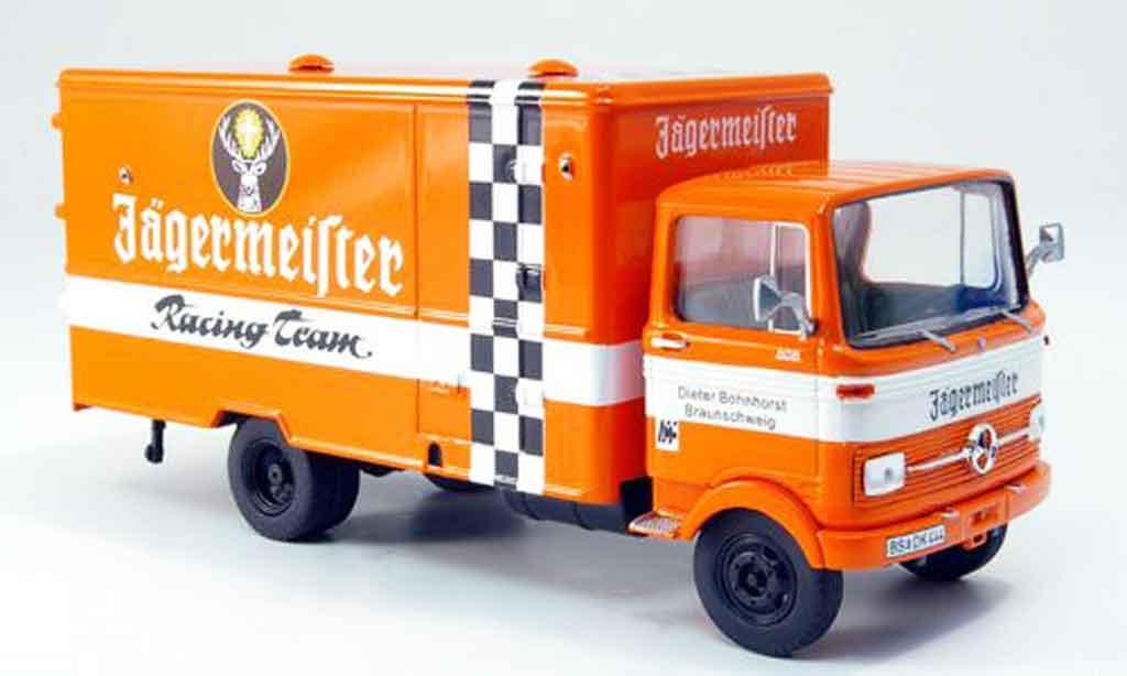 Mercedes LP 608 1/43 Premium Cls Jagermeister Racing Team Koffer LKW miniature
