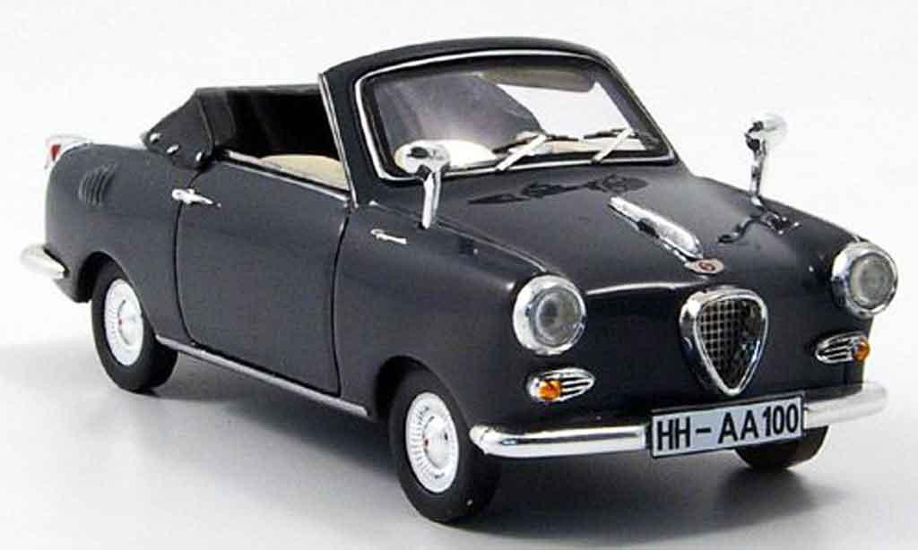 Goggomobil TS 1/43 Premium Cls 250 Cabriolet grise miniature