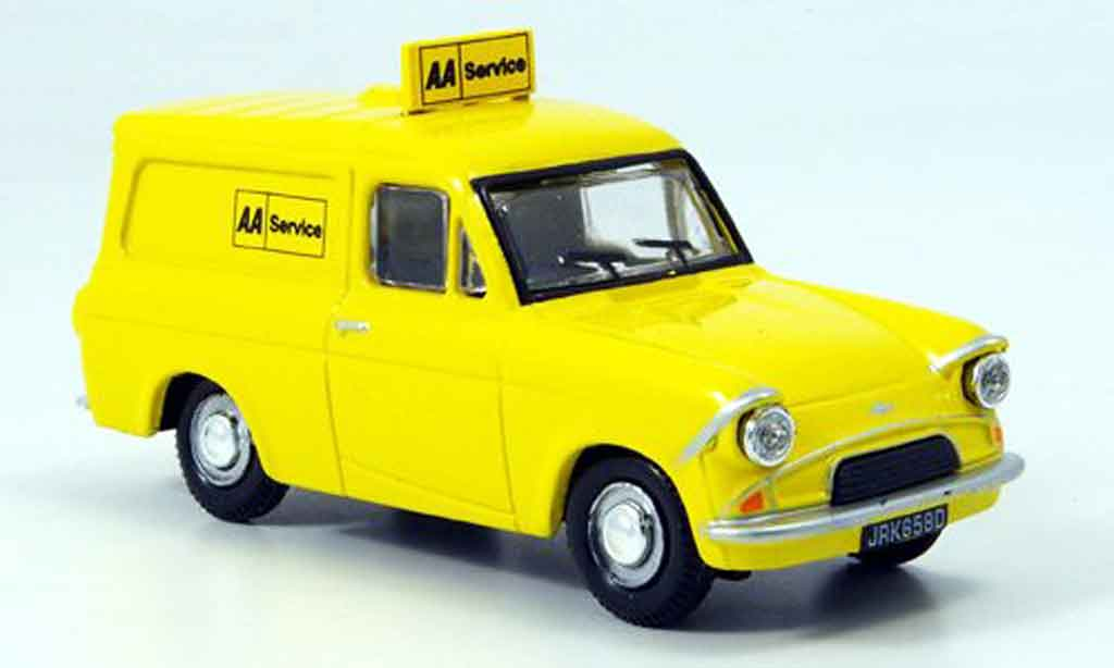 Ford Anglia 1/43 Oxford Van jaune AA Services miniature
