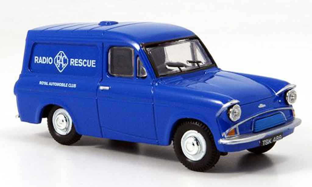Ford Anglia 1/43 Oxford Van bleu RAC Radio Rescue miniature