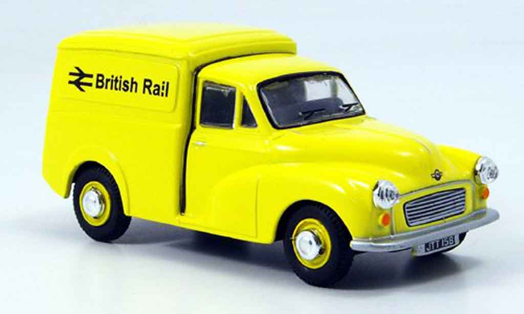Morris Minor 1/43 Oxford Van yellow Kasten British Rail diecast