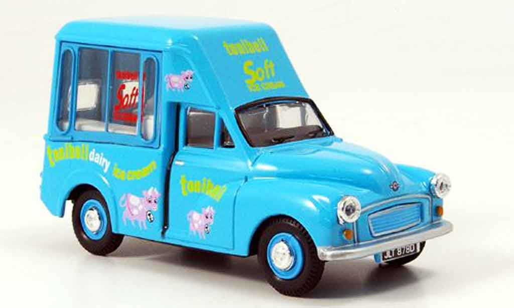 Morris Minor 1/43 Oxford Van bleu Tonibell Hochdach Eiswagen miniature
