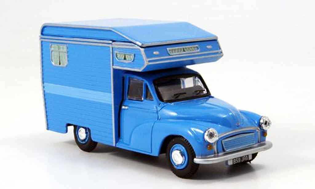 Morris Minor 1/43 Oxford Van Camper bleu Wohnmobil
