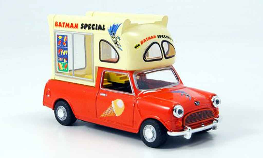 Austin Mini Pick Up 1/43 Oxford rouge blanche Batman Special Eiswagen miniature