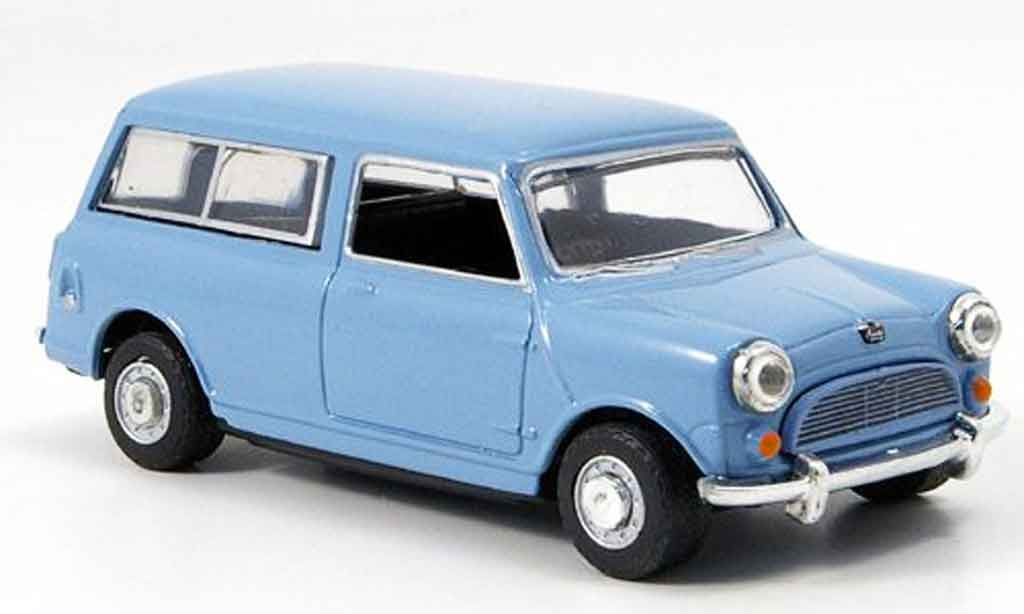Austin Mini Van 1/43 Oxford Mini Traveller bleu grise miniature