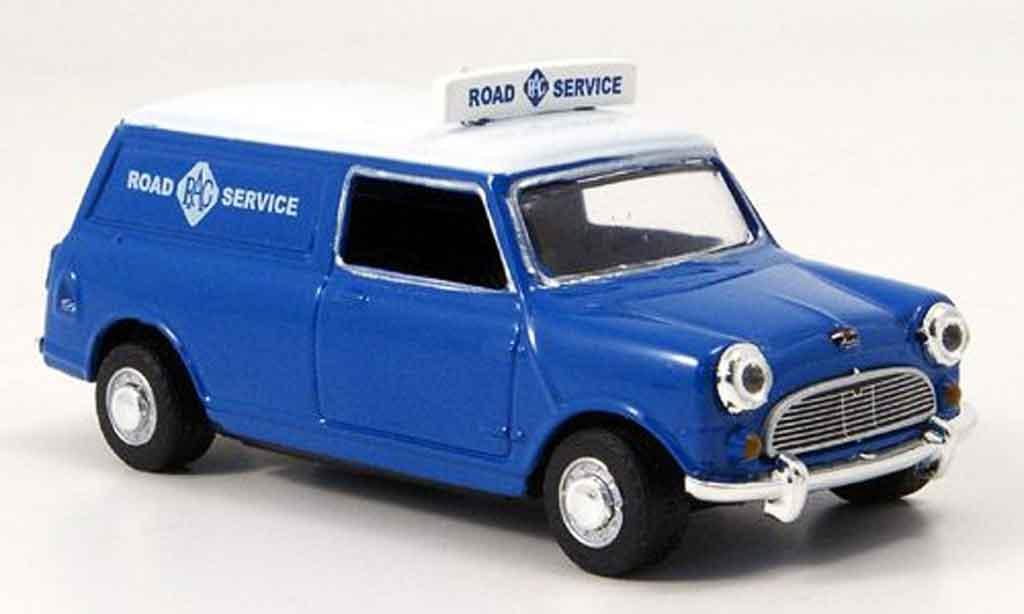 Austin Mini Van 1/43 Oxford bleu blanche RAC Road Service miniature