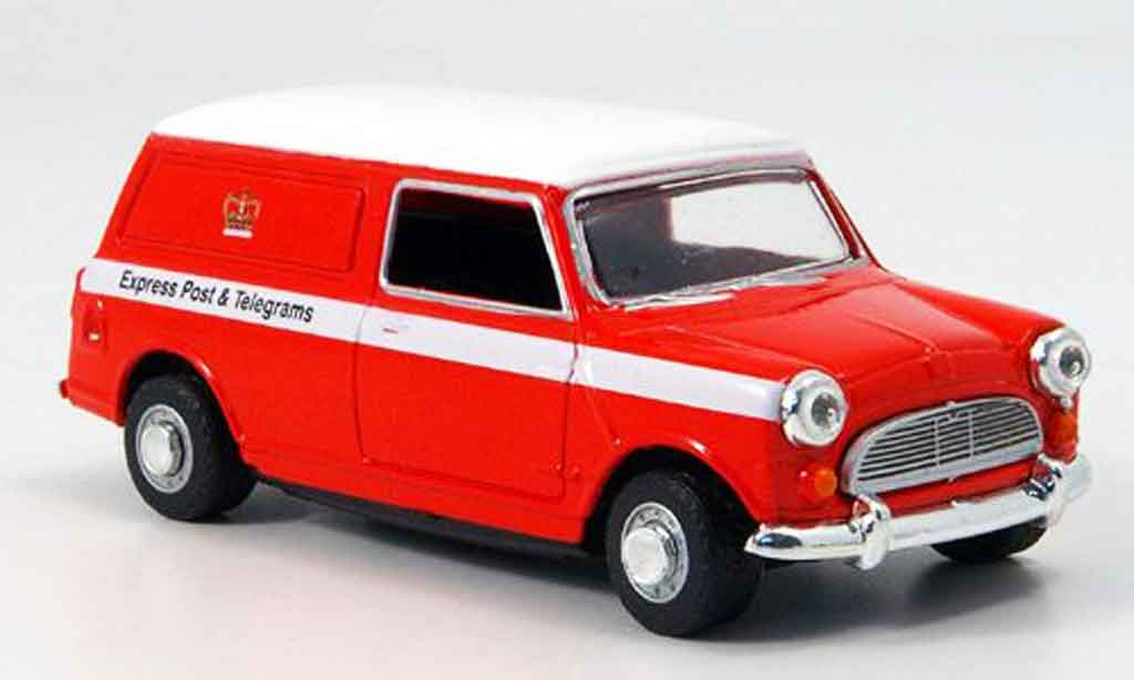 Austin Mini Van 1/43 Oxford rouge blanche Royal Mail Express miniature