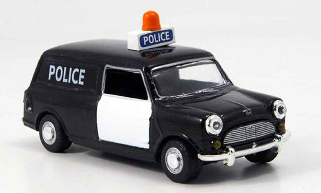 Austin Mini Van 1/43 Oxford noire blanche police Police West Riding miniature