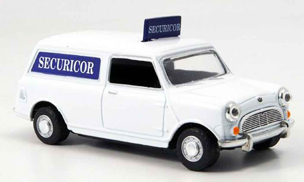 Austin Mini Van 1/43 Oxford blanche bleu Securicor miniature