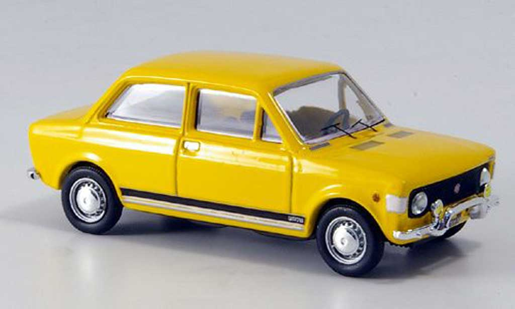 Fiat 128 1/43 Rio Rally yellow 1971 diecast