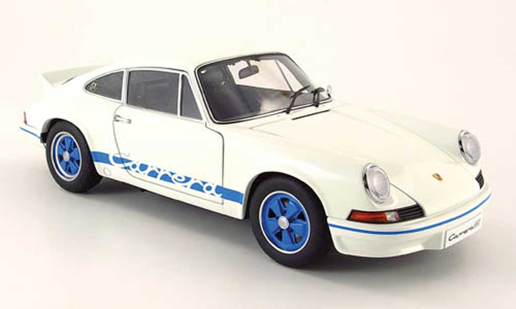 Porsche 911 RS 1/18 Autoart 2.7 carrera white 1973 diecast model cars