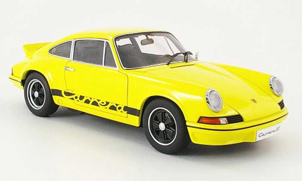 Porsche 911 RS 1/18 Autoart carrera 2.7 jaune/noire 1973 miniature