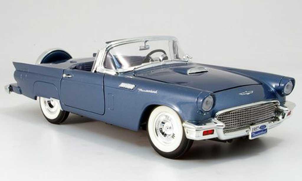 Ford Thunderbird 1957 1/18 Yat Ming blu modellino in miniatura