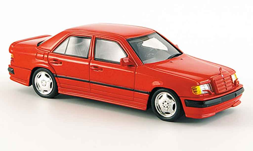 Mercedes 300 E 1/43 Spark AMG rouge 1987 miniature