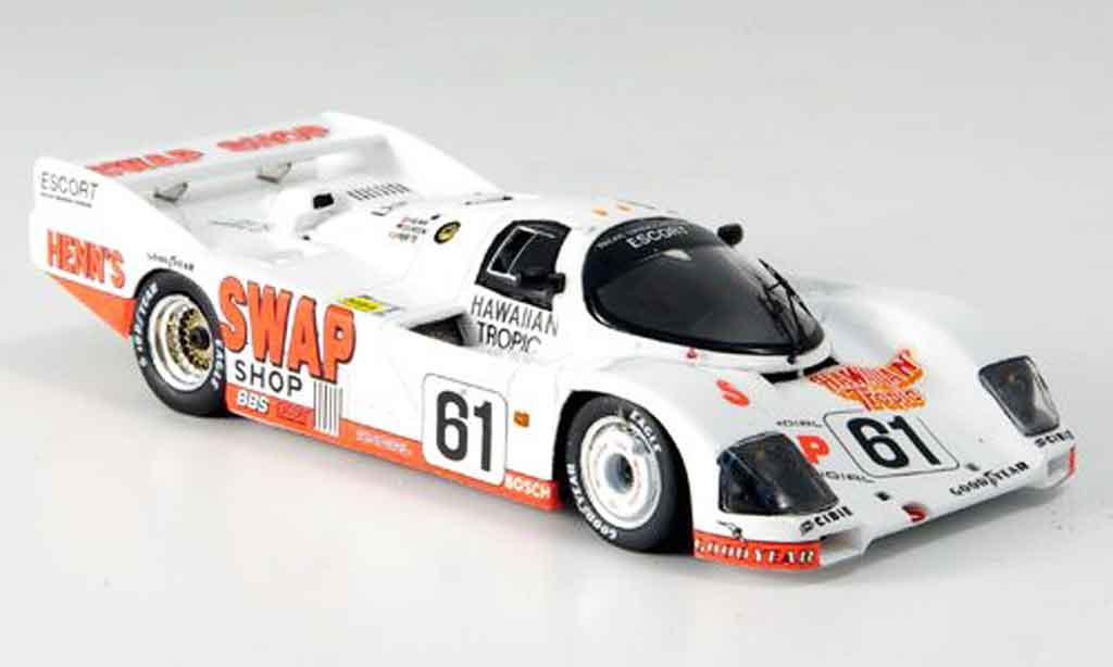 Porsche 962 1984 1/43 Spark No.61 Ferte Doeren Henn Le Mans miniature