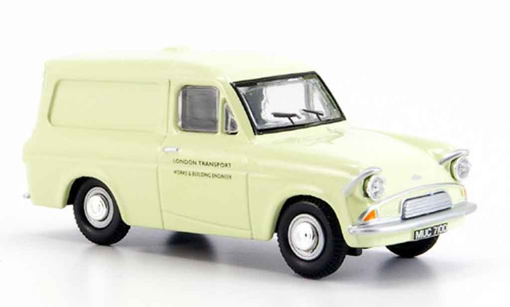 Ford Anglia 1/43 Oxford Van beige London Transport miniature