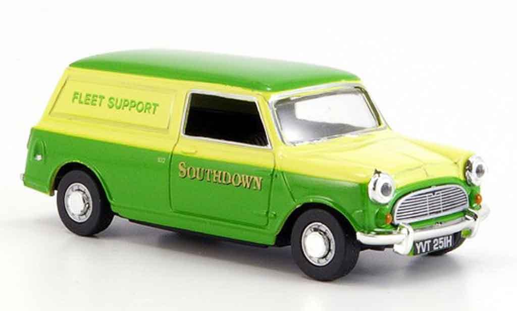Austin Mini Van 1/43 Oxford verte jaune Southdown miniature