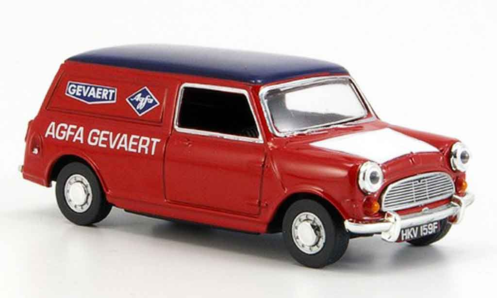 Austin Mini Van 1/43 Oxford rouge bleu Agfa Gevaert miniature
