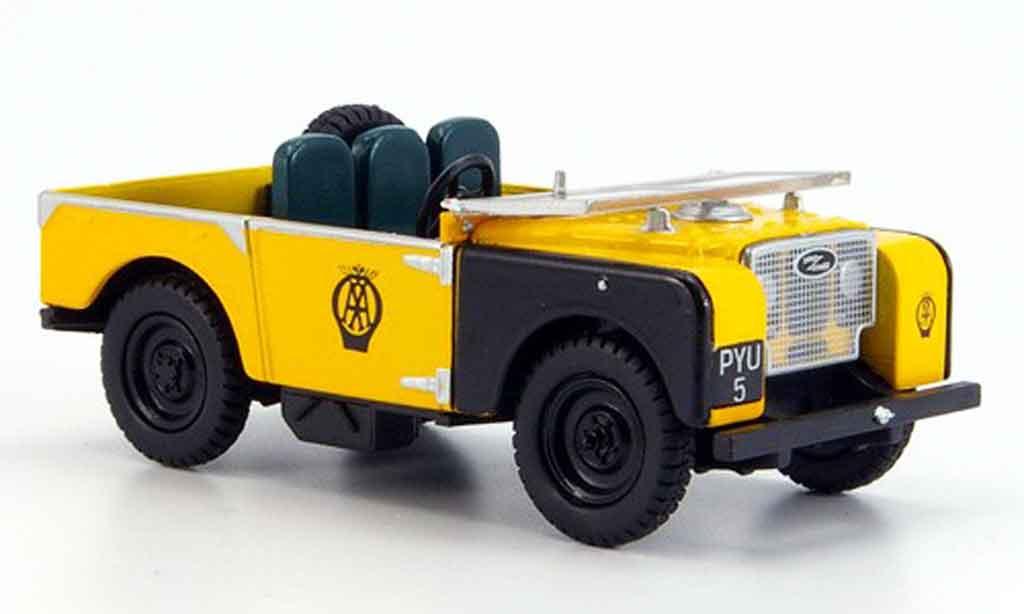 Land Rover 80 1/43 Oxford jaune noire AA miniature