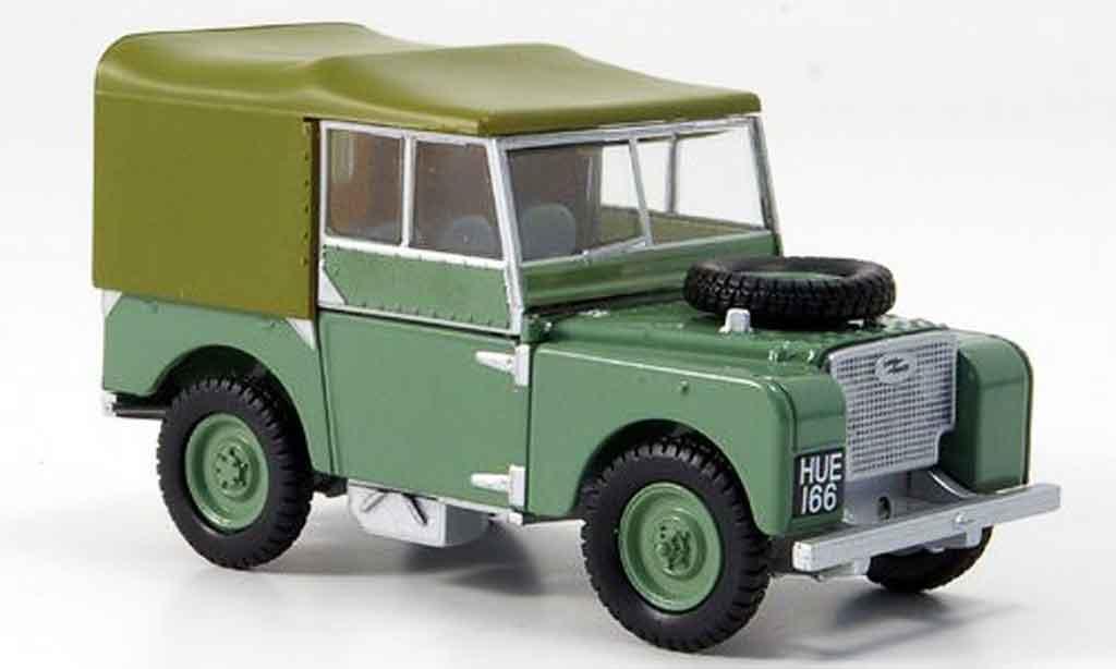 Land Rover 80 1/43 Oxford verte beige miniature