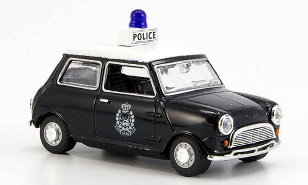 Austin Mini Cooper 1/43 Oxford noire blanche Hong Kong Police police miniature