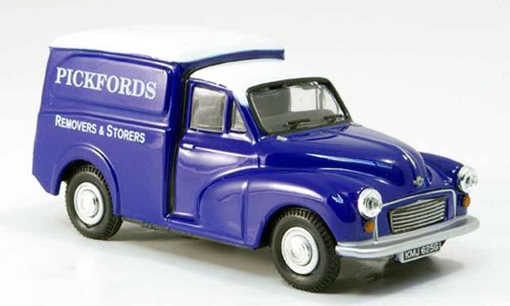 Morris Minor 1/43 Oxford Van bleu Pickfords Kasten diecast