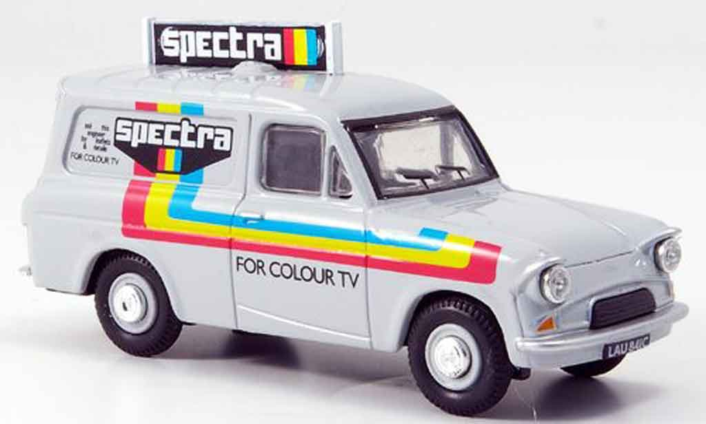 Ford Anglia 1/43 Oxford Van blanche Spectra Kasten miniature