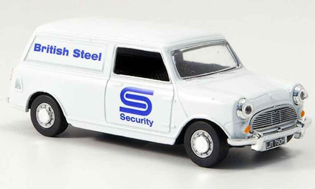 Austin Mini Van 1/43 Oxford blanche British Steel Kasten miniature