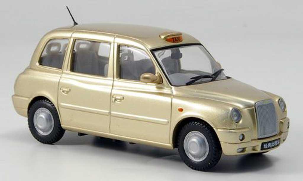 Austin TX4 1/43 Oxford Taxi gold 2007 Shanghai Auto Show miniature