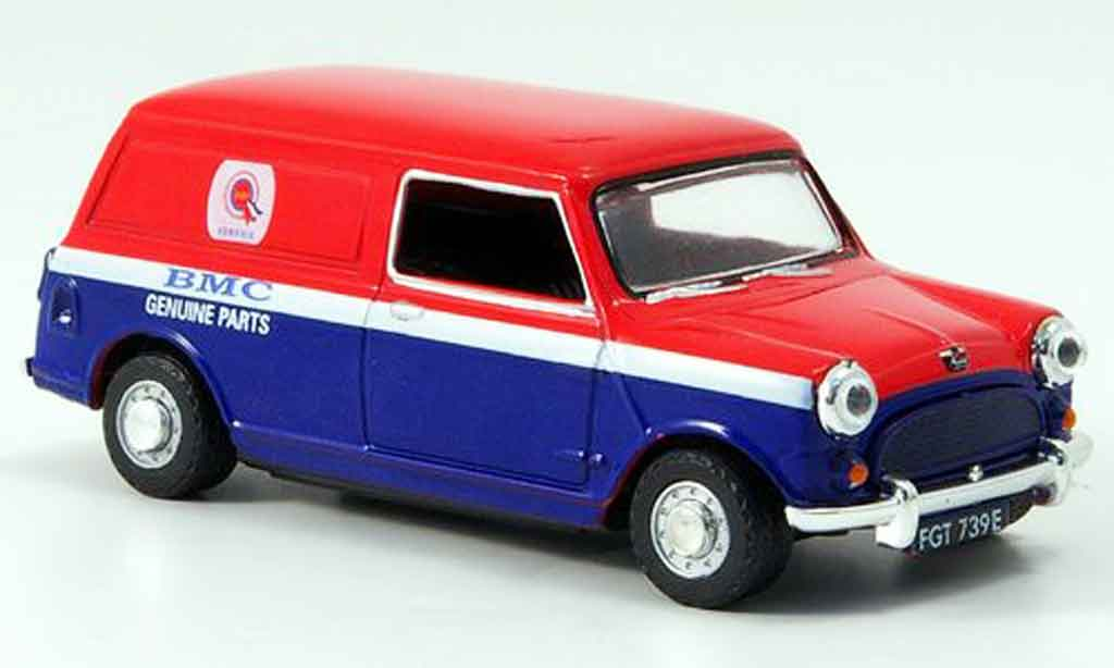 Austin Mini Van 1/43 Oxford rouge bleu BMC Parts Kasten miniature