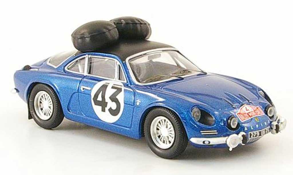 Alpine A110 1/43 Trofeu 1600S No.43 Rally Monte Carlo 1968 Larrousse/Callewaert modellino in miniatura