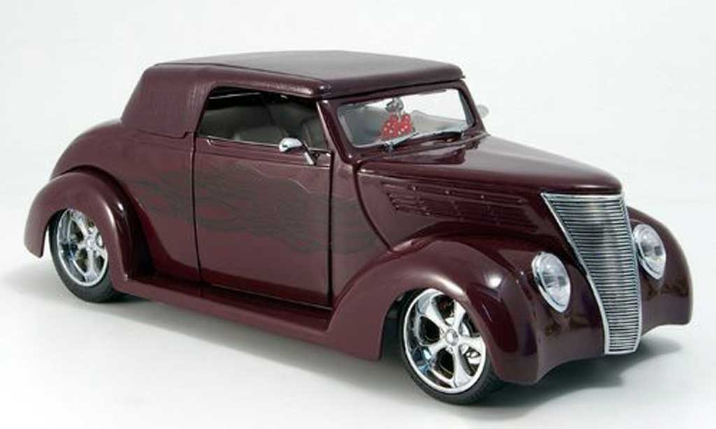 Ford Hot Rod 1/18 Yat Ming convertible rouge geschlossen 1937 miniature