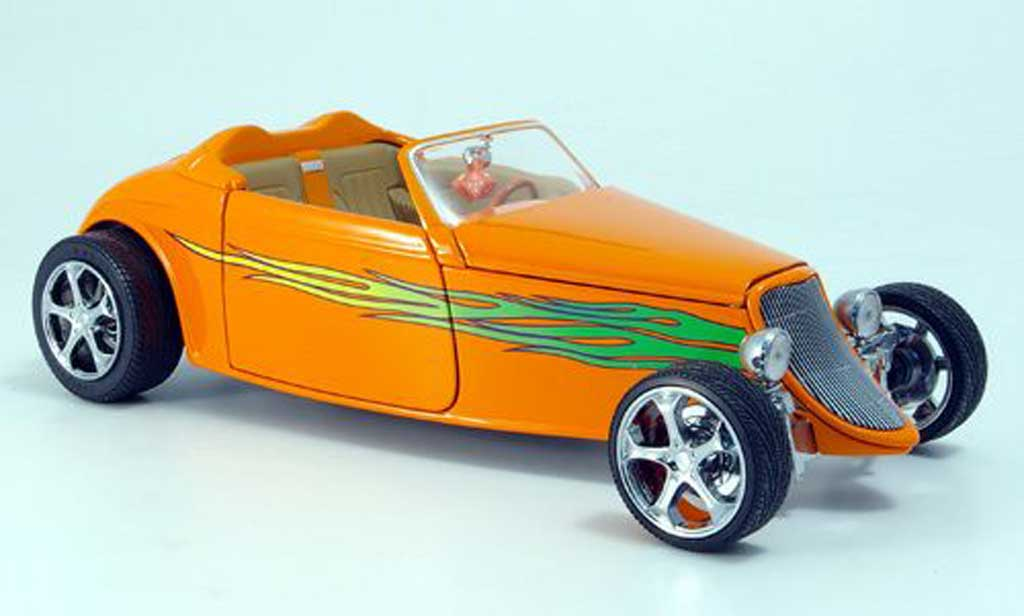 Ford Hot Rod 1/18 Yat Ming convertible orange vertee flammen offen 1933 miniature