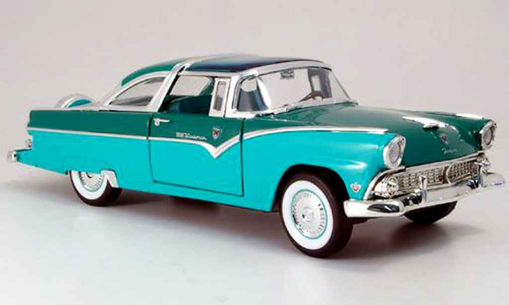 Ford Crown 1955 1/18 Yat Ming 1955 victoria grun/grun miniature
