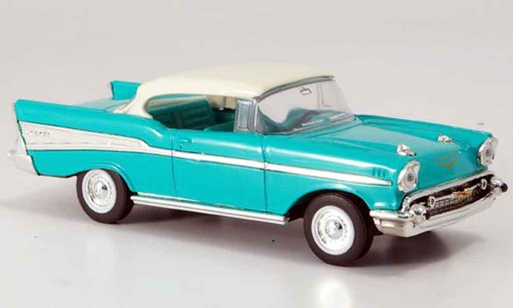 Chevrolet Bel Air 1/43 Yat Ming grun blanchees Dach 1957 miniature