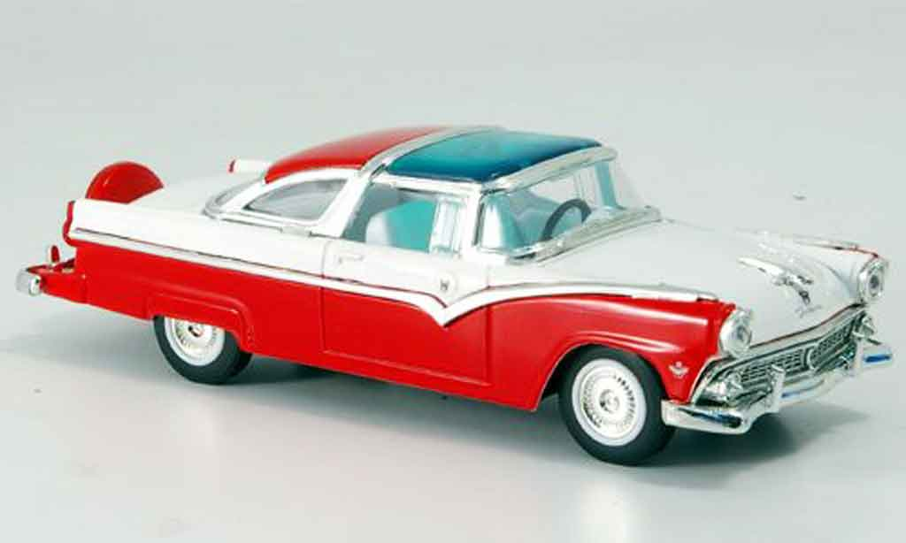 Ford Crown 1/43 Yat Ming Victoria rouge blanche 1955 miniature