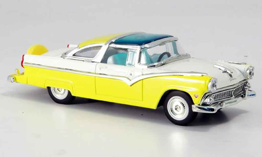 Ford Crown 1/43 Yat Ming Victoria yellow white 1955 diecast