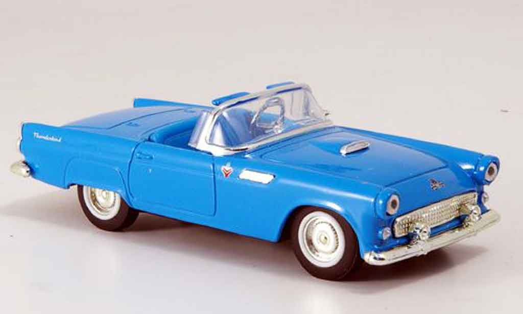Ford Thunderbird 1955 1/43 Yat Ming Roadster bleu diecast model cars
